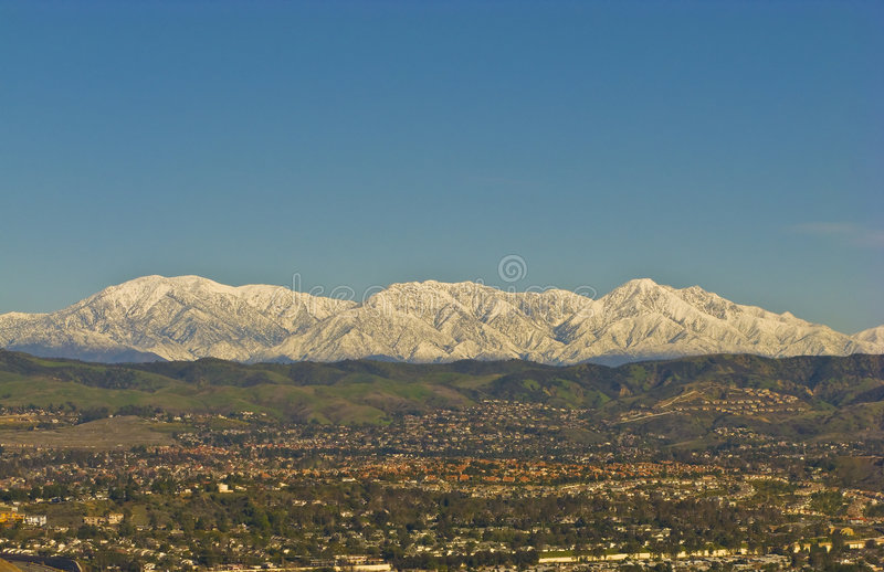 Snowy San Bernardino Mountains during Winter. San Bernardino Mountains with Snow during Winter royalty free stock photo