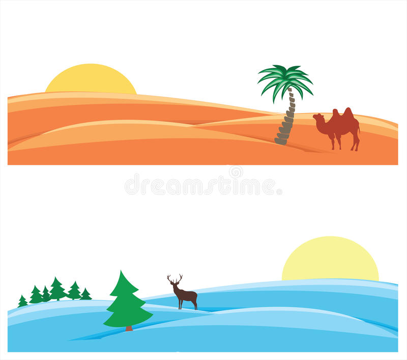Download Snowy And Sandy Deserts Royalty Free Stock Photo - Image: 28145755