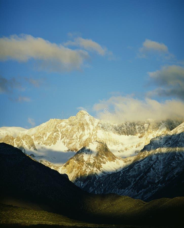 Snowy Sierra Nevada Mountains royalty free stock image