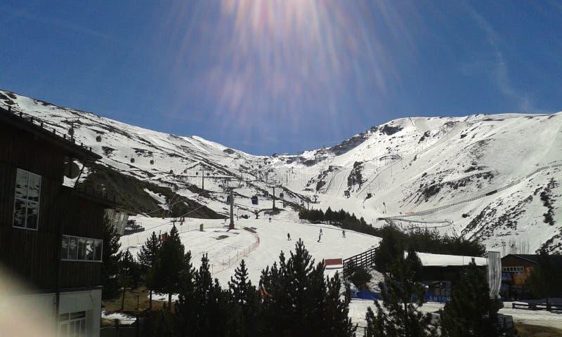 Snowy slopes royalty free stock photo