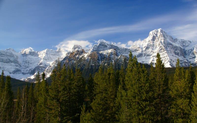 Snowy-Spitze in den Rockies lizenzfreie stockfotos