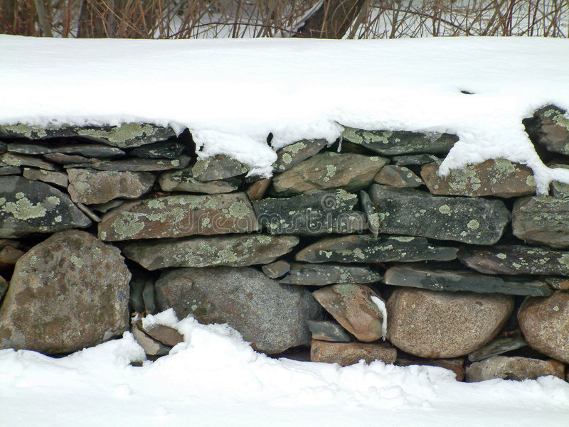 Download Snowy Stone Wall 2 stock image. Image of stones, nature, short - 4867