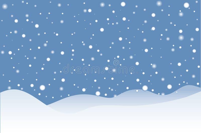 Snowy-Szene vektor abbildung