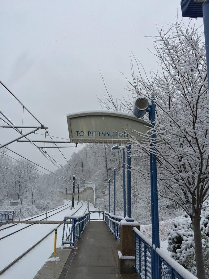 Snowy tauschen aus stockfoto