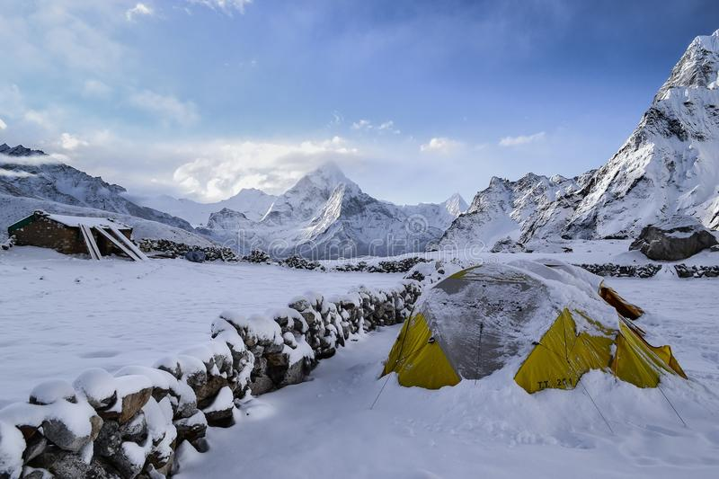 Snowy Tent In Mountains Free Public Domain Cc0 Image