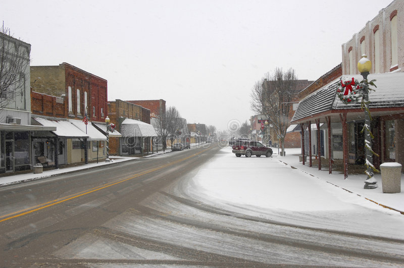 Download Snowy Town stock photo. Image of white, winter, frozen - 4190162