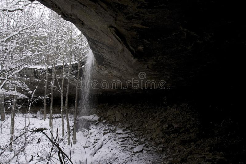 Download Snowy Waterfall stock photo. Image of snow, season, weather - 6492440