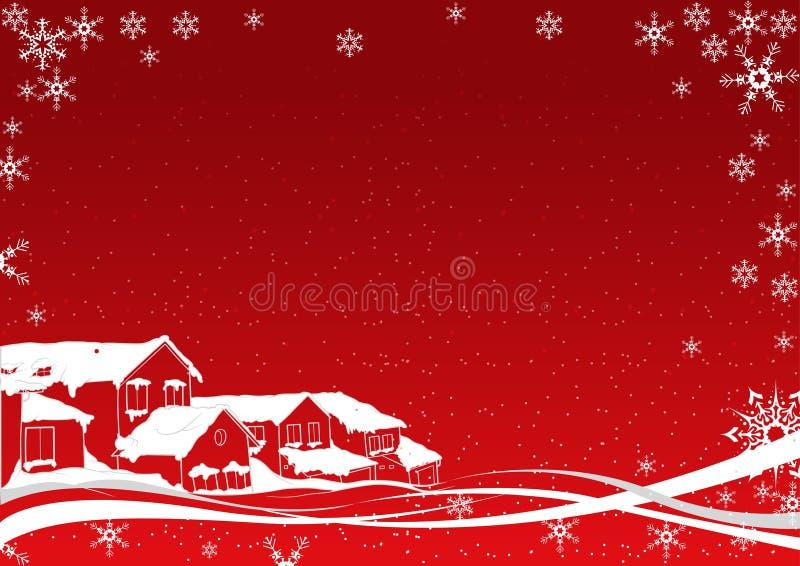 Snowy-Weihnachten lizenzfreie abbildung