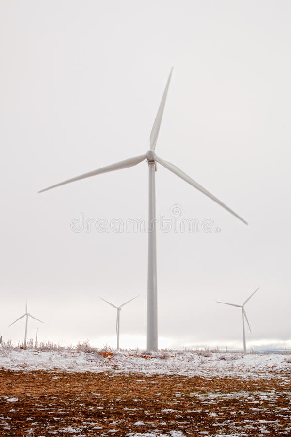 Download Snowy Wind Park Stock Photography - Image: 27702212