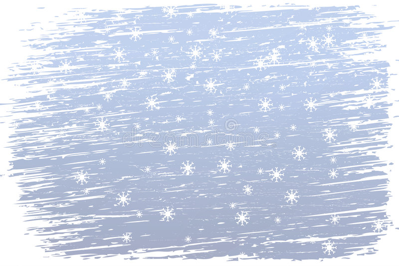 Snowy and windy winter stock illustration