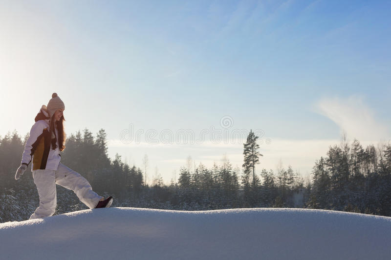 Download Snowy woodland stock photo. Image of forest, frozen, active - 28829144