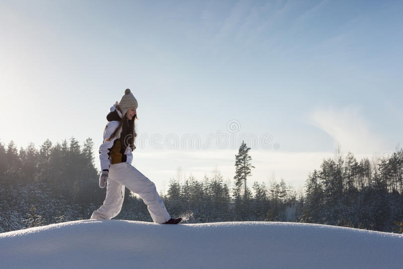 Download Snowy woodland stock photo. Image of gloves, frozen, caucasian - 28829156