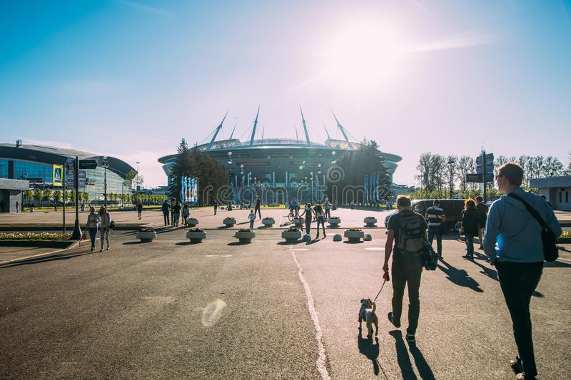 Snt. Petersburg, Russia - 18.05.2018, Gazprom Zenith arena football stadium world Cup 2018 stock images