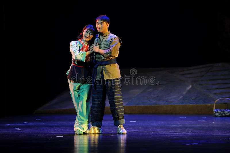 Snuggle together- Jiangxi opera a steelyard. Jiangxi opera a steelyard is adapted from a true story: the last century fortys, the protagonists father runs an oil stock photos