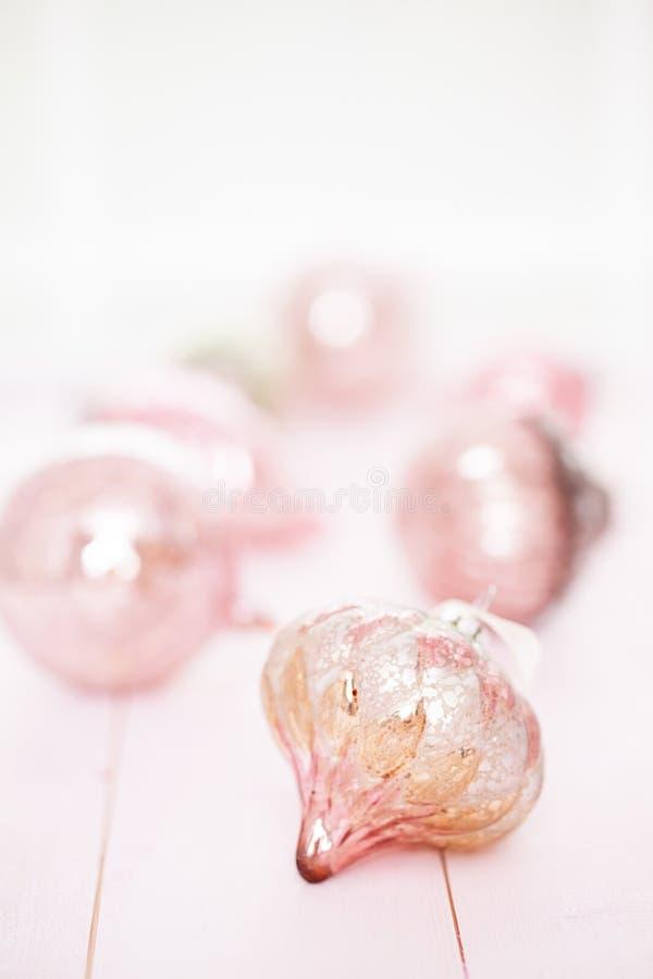 Snuisterijen van luxe de Roze Kerstmis stock foto
