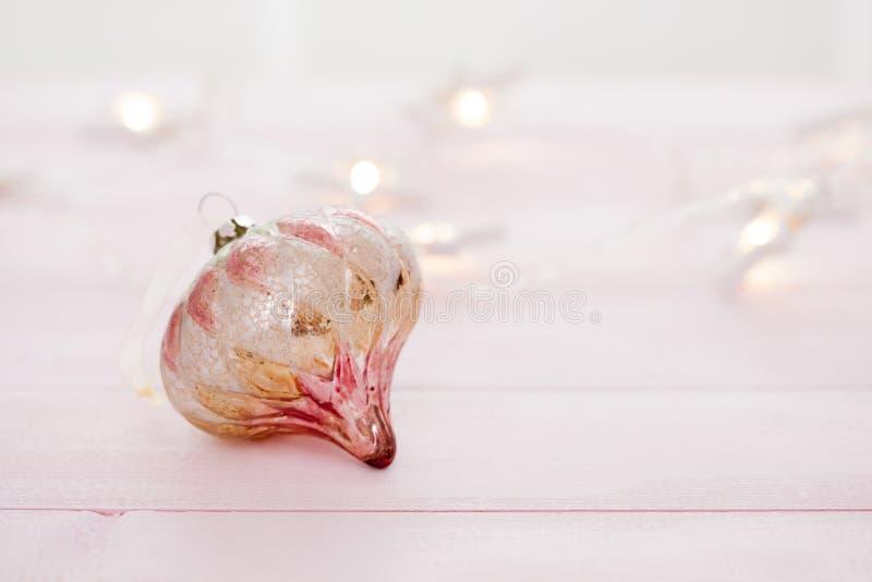 Snuisterijen van luxe de Roze Kerstmis stock fotografie