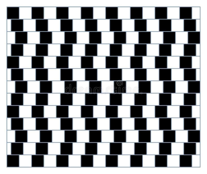 Snurrande, rörelse och optisk illusion Vektorillustration av omöjliga former royaltyfri illustrationer