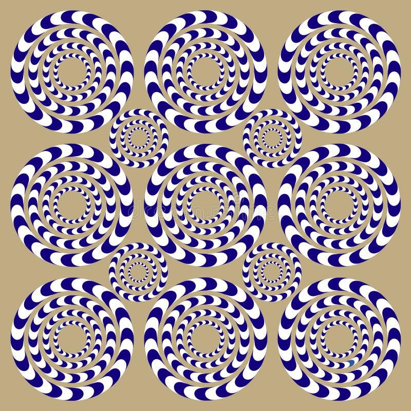 Snurrandecirklar (illusionen) royaltyfri illustrationer