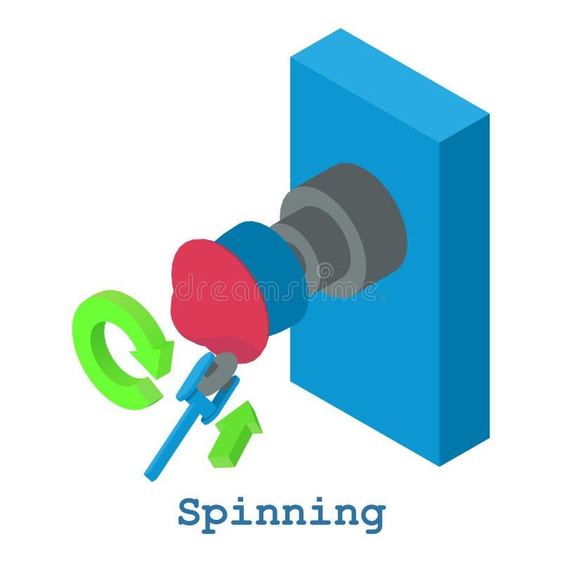 Snurrmetallarbetesymbol, isometrisk stil 3d stock illustrationer