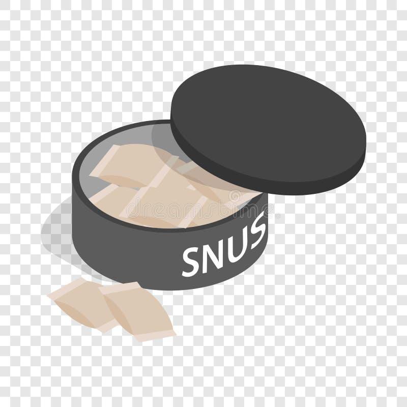 Snus sueco, ícone isométrico do cigarro de mastigação ilustração stock
