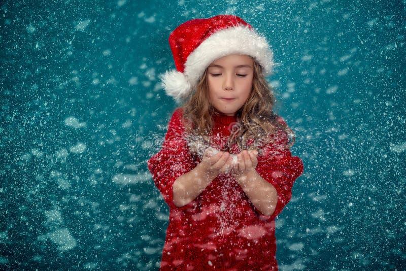 Snwo ciosu christmastime zdjęcie royalty free
