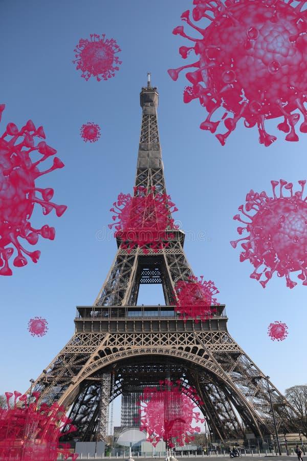 Snygg bild av Eiffeltornet i Paris royaltyfria foton