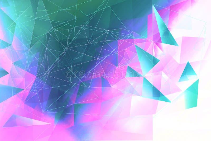Soñador, extracto, fondo multicolor, geométrico libre illustration