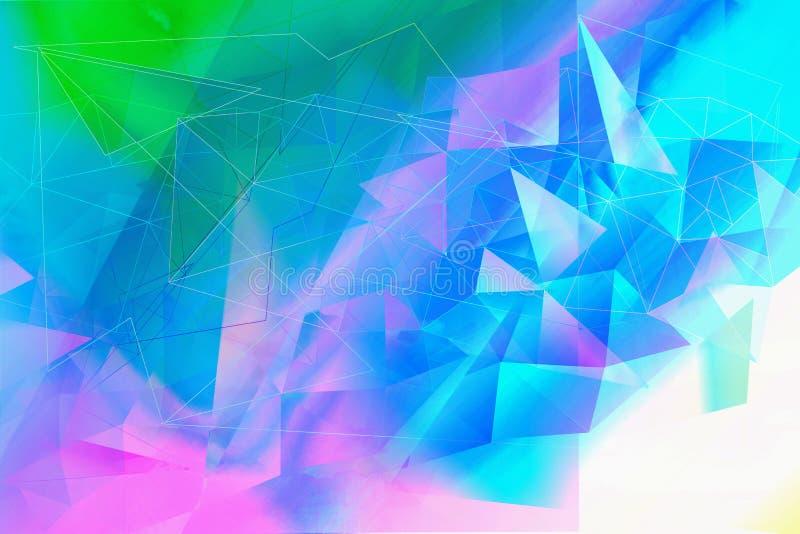 Soñador, extracto, fondo multicolor, geométrico stock de ilustración