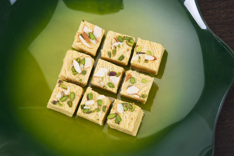 Soan Papdi, Indisch Snoepje royalty-vrije stock afbeelding