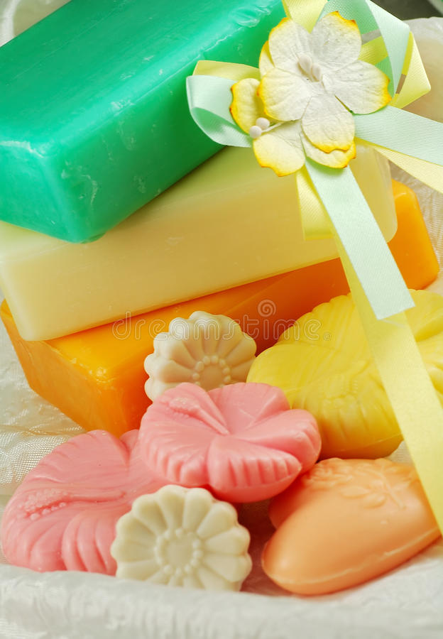 Soap. Still life of colorful soap stock image