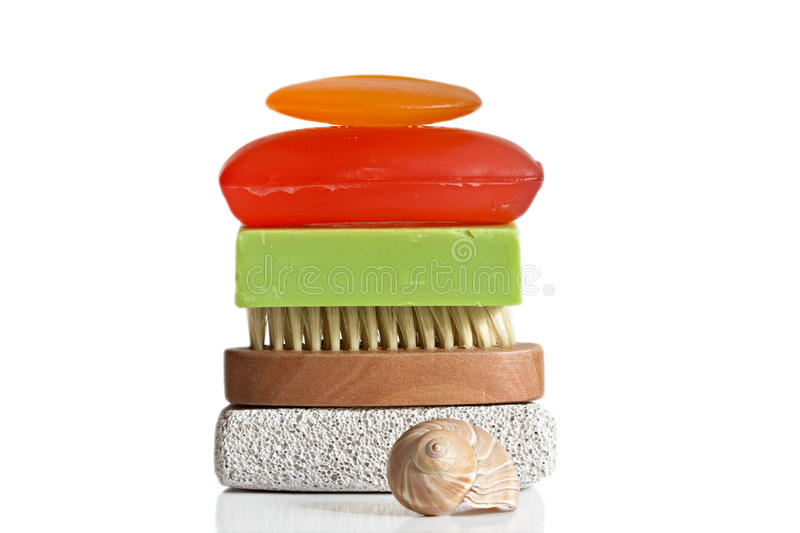 Download Soap stock photo. Image of clean, brush, seashell, purity - 16063016