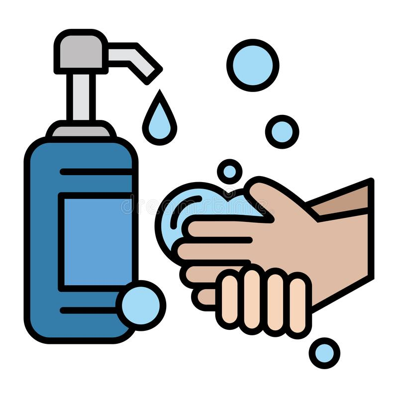 Free Soap-antiseptic In A Bottle With A Dispenser - Disinfecting Agents. Hand Washing. Hygiene And Care Products. Hands With Soap Suds. Royalty Free Stock Images - 177295189