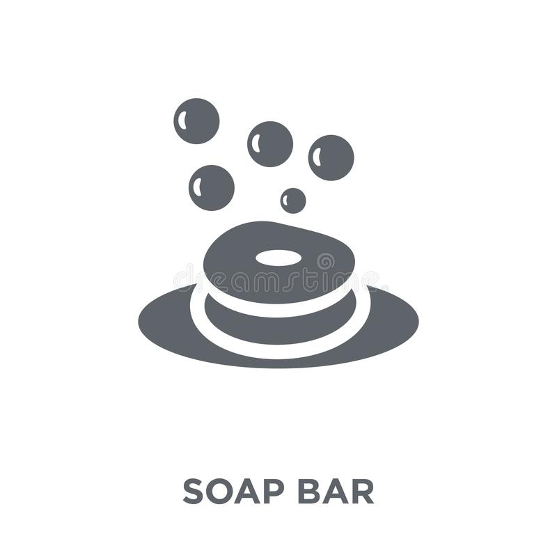 Soap bar icon from collection. Soap bar icon. soap bar design concept from collection. Simple element vector illustration on white background royalty free illustration