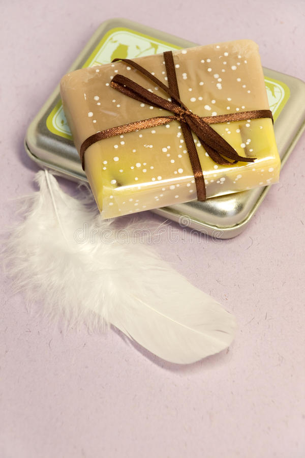 Soap and Box stock photography