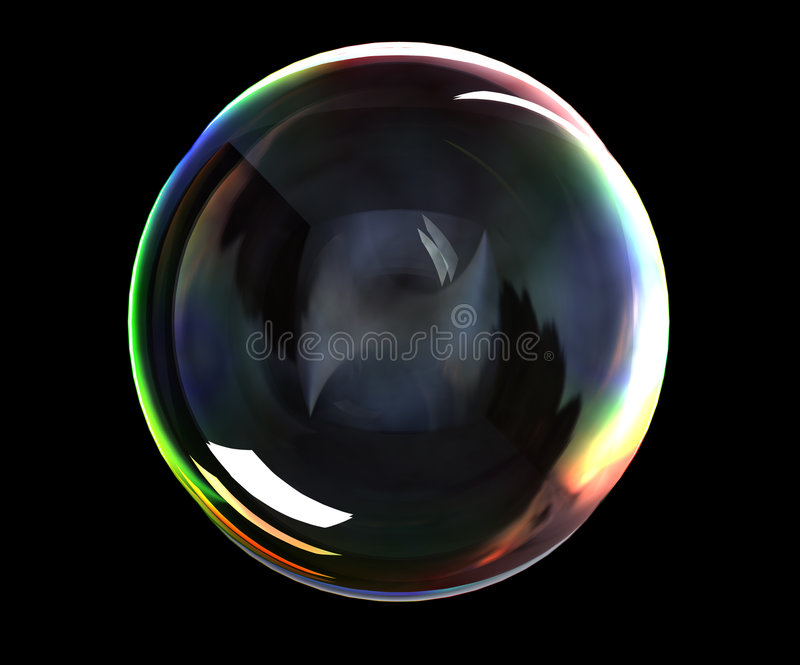 Soap bubble royalty free illustration