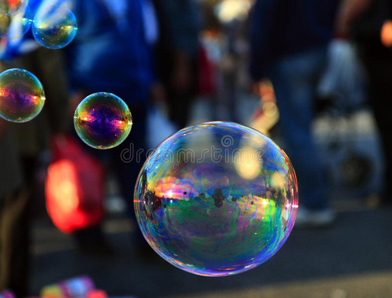Download Soap Bubble  On Light Ble Background Stock Photo - Image: 6798864