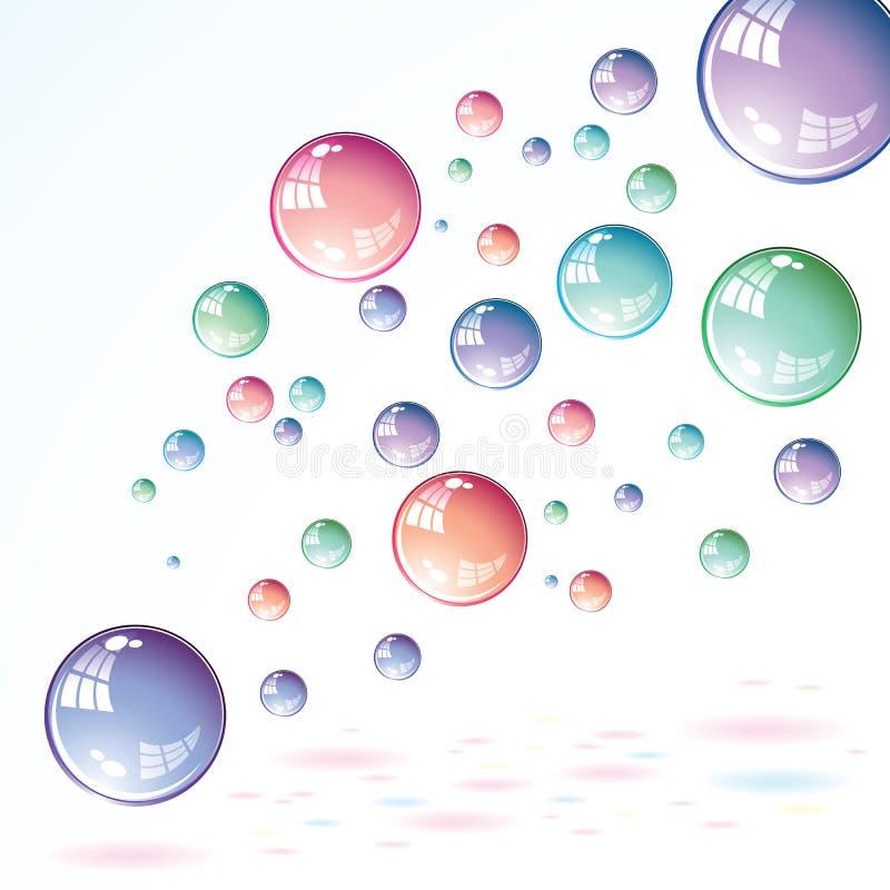 Soap bubbles vector illustration