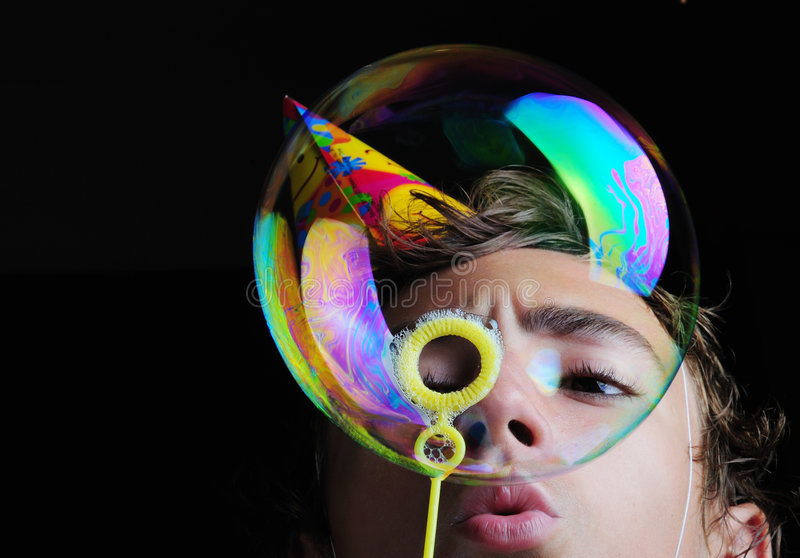 Download Soap bubbles stock image. Image of sweater, concentration - 6672547