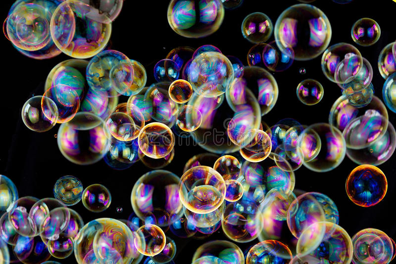 Soap bubbles abstract colorful background royalty free stock images