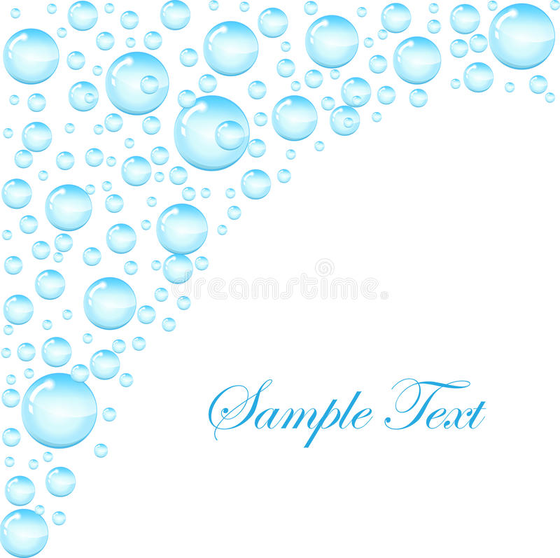 Soap bubbles background with space for text. Template for the text with soap bubbles, water droplets. vector illustration royalty free illustration