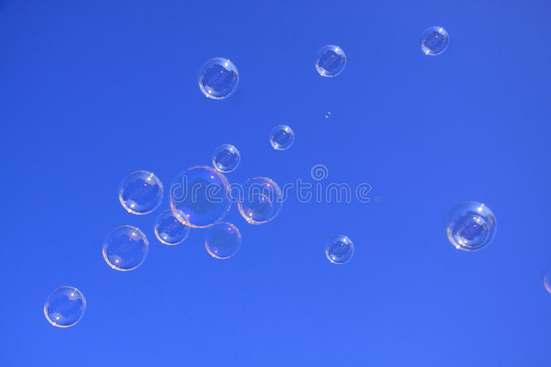 Download Soap Bubbles In The Blue Sky Stock Image - Image: 21389727
