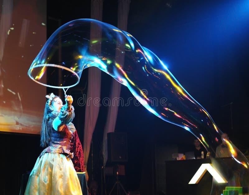 Soap  bubbles frestival at Vladivostok