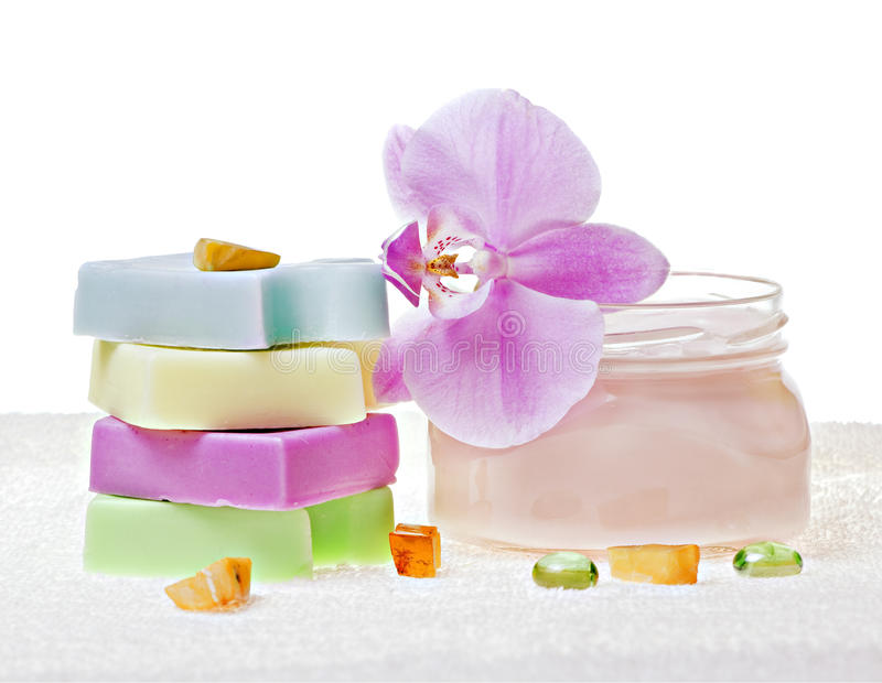 Download Soap and cream stock image. Image of flower, yellow, mask - 18994199