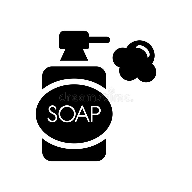 Soap dispenser icon. Trendy soap dispenser logo concept on white. Background from Hygiene collection. Suitable for use on web apps, mobile apps and print media vector illustration
