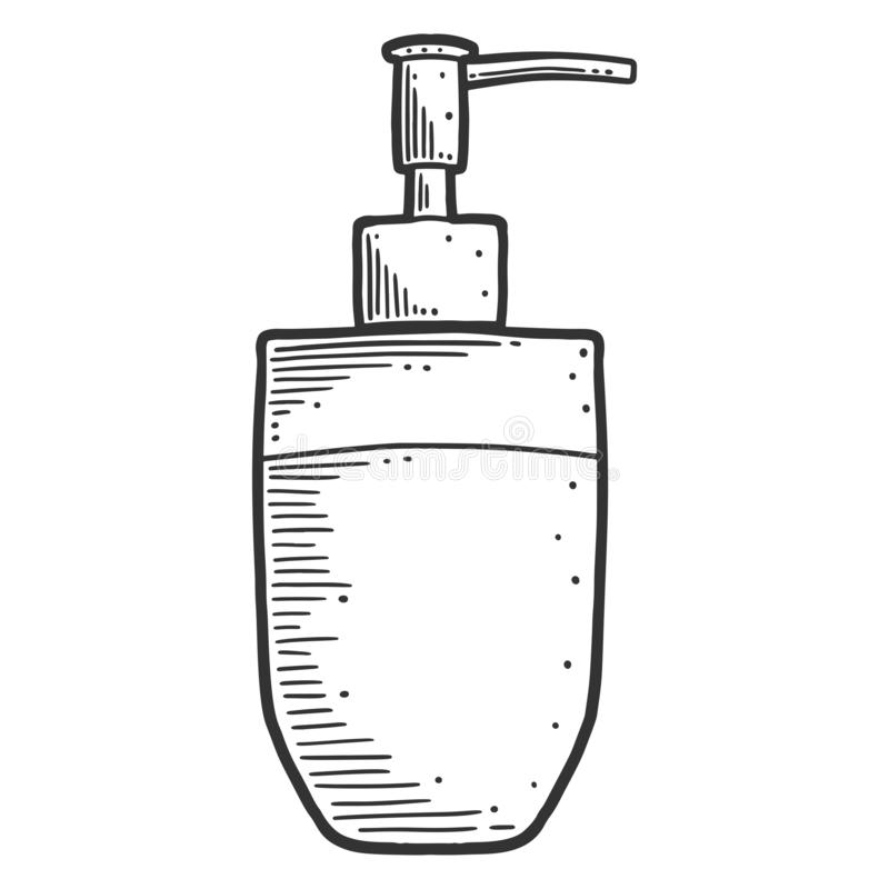 Free Soap Dispenser. Vector Concept In Doodle And Sketch Style Stock Photos - 154523293