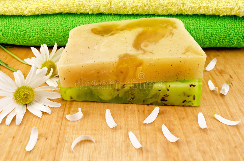 Download Soap Homemade Green And Yellow Stock Photo - Image: 26570026
