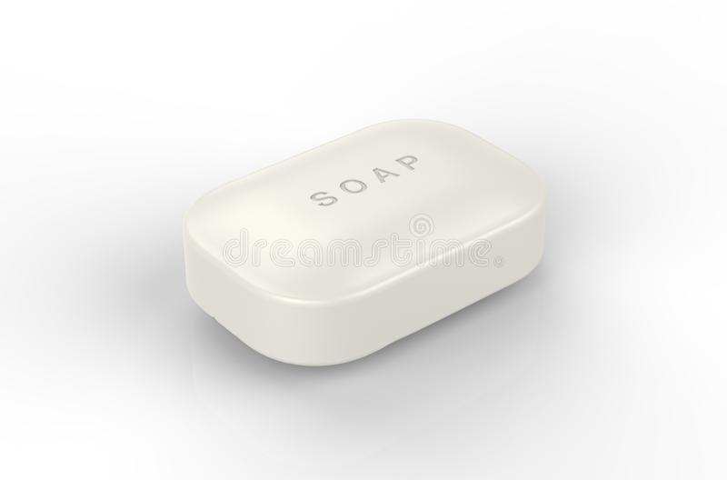 Soap. The image of Bar soap stock illustration