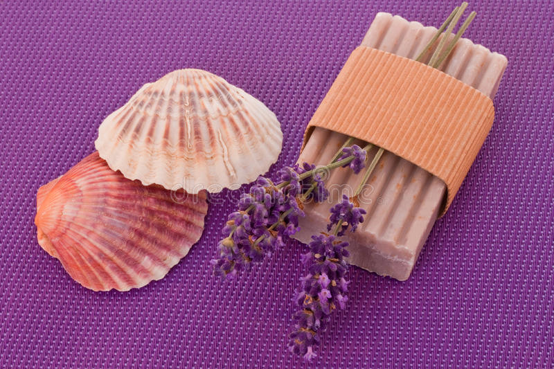 Download Soap with lavender stock photo. Image of care, cosmetics - 29680448