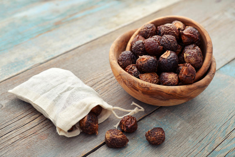 Soap nuts royalty free stock photos