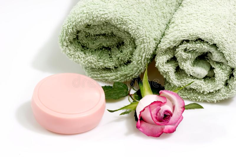 Soap with Rose stock photos